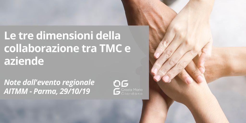 Le tre dimensioni della collaborazione tra TMC e Aziende